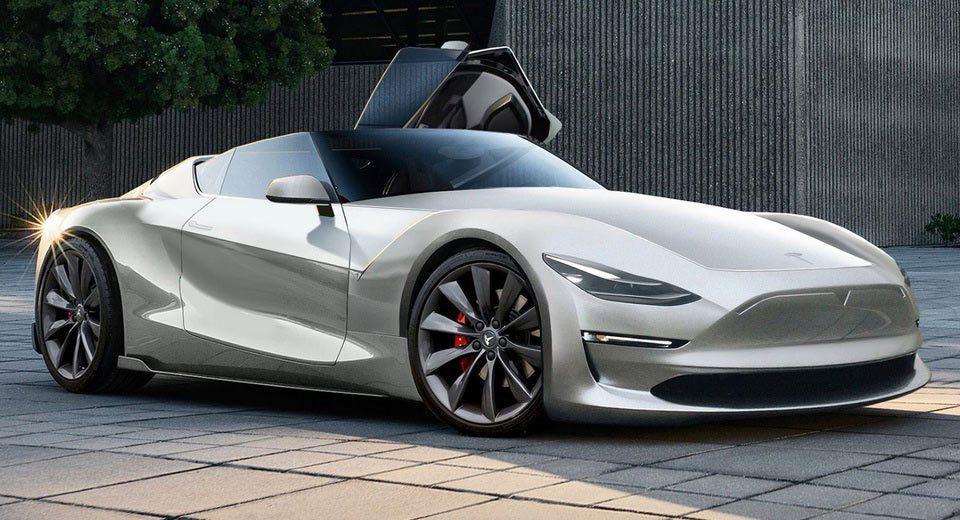 網友模擬出來的Tesla Roadster。擷取自「Jan Peisert」Yo...