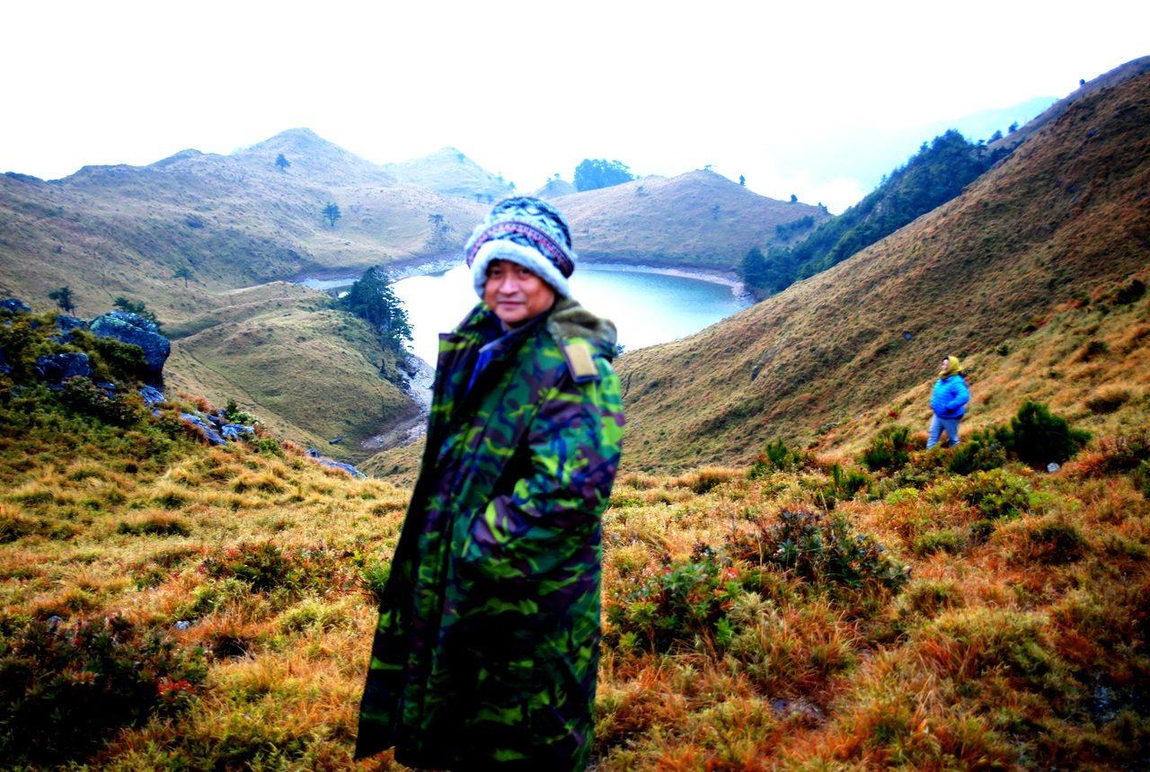 七彩湖是原民傳統領域,信義鄉長史強將宣示為布農族的祖靈聖地。記者黑中亮/翻攝