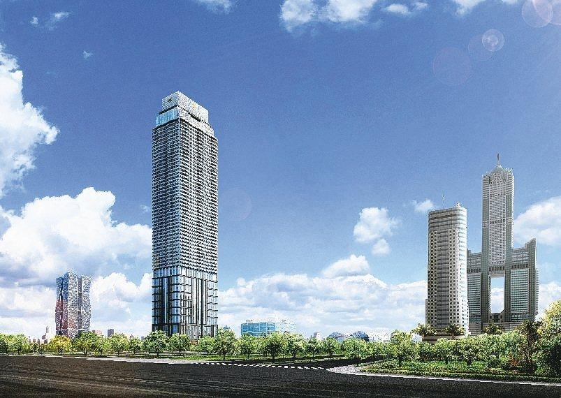「THE ONE」樓高達268米,將創下高雄最高的住宅大樓紀錄,同時是全球第26...