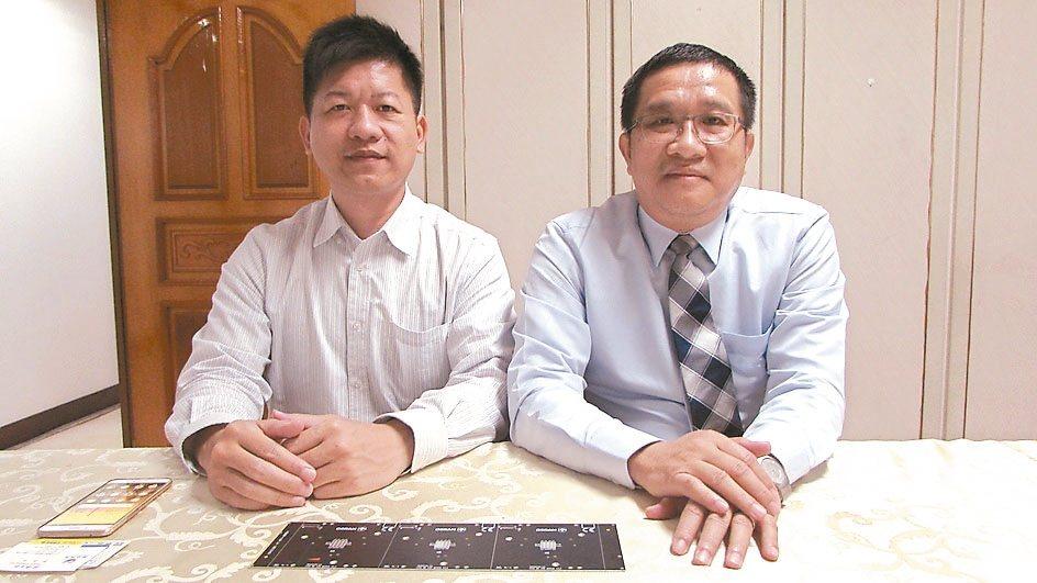 柏匯總經理朱鴻民(右)、專案經理戴永富。 翁永全/攝影