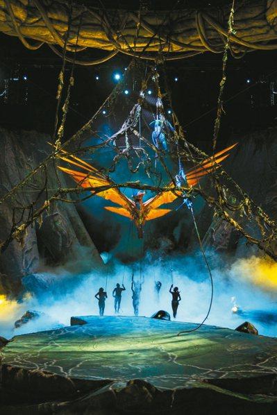 太陽馬戲操偶師功力了得,聯手呈現潘朵拉星球天空霸主托魯克(TORUK)展翅現身。...