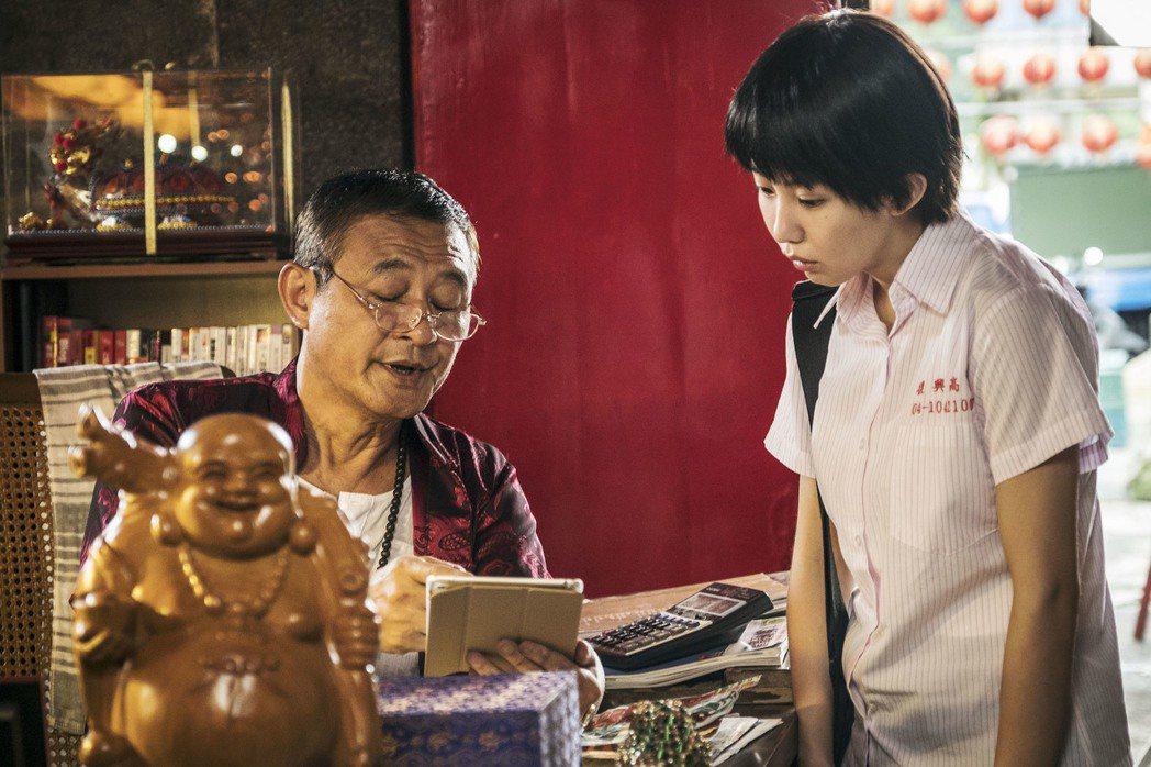 陳慕義(左)與郭書瑤在「通靈少女」中有精采對手戲。圖/HBO Asia提供