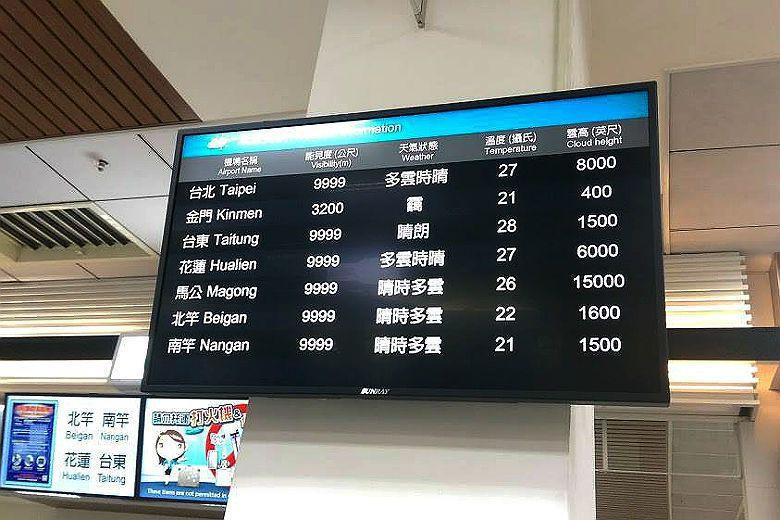 在霧季期間尚義機場雖然有開場但能見度仍明顯低於其他國內機場。 圖/作者提供