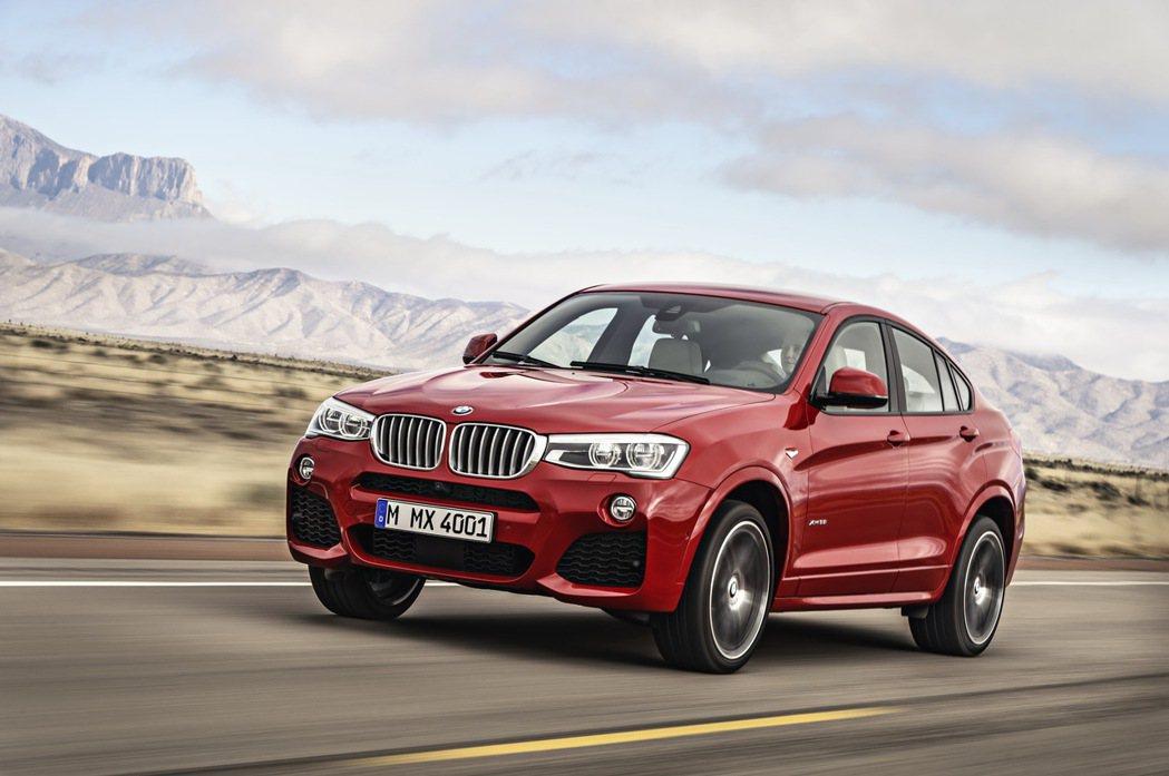 BMW X4。 圖/汎德提供