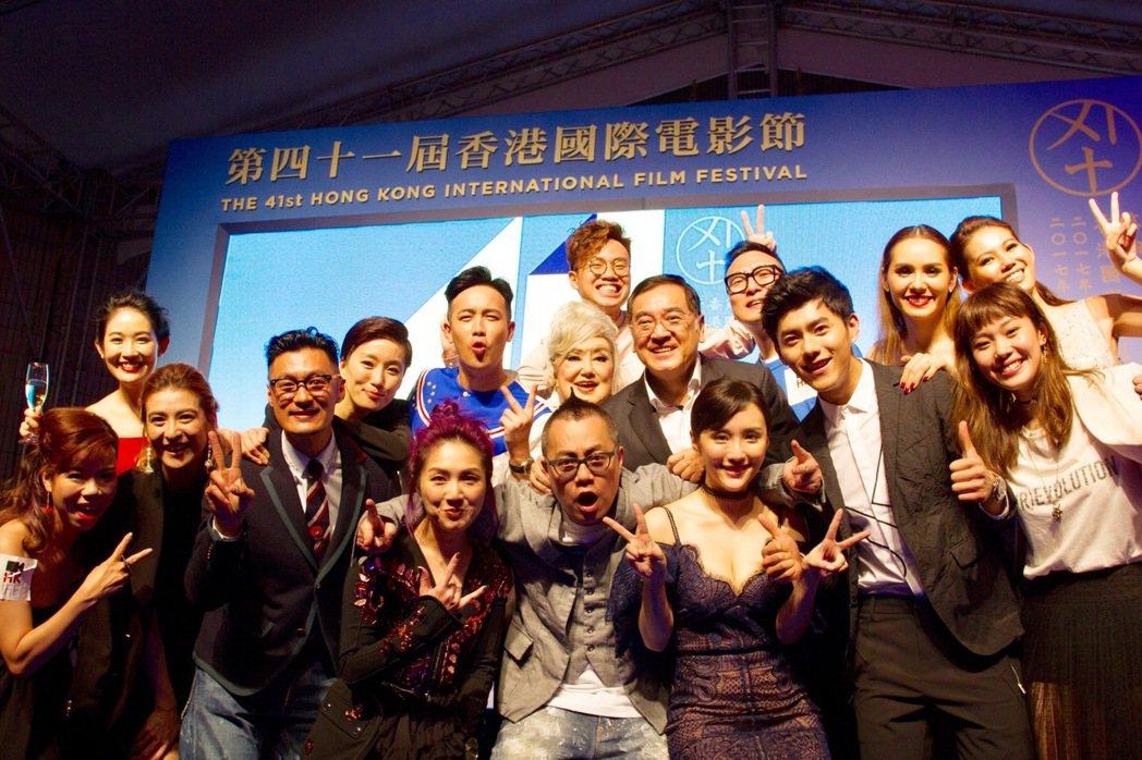 台灣男星李程彬(前右二)演出「春嬌救志明」。圖/最大國際娛樂提供