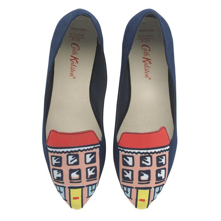 比利小狗連棟屋印花平底鞋,2,280元。圖/Cath Kidston提供