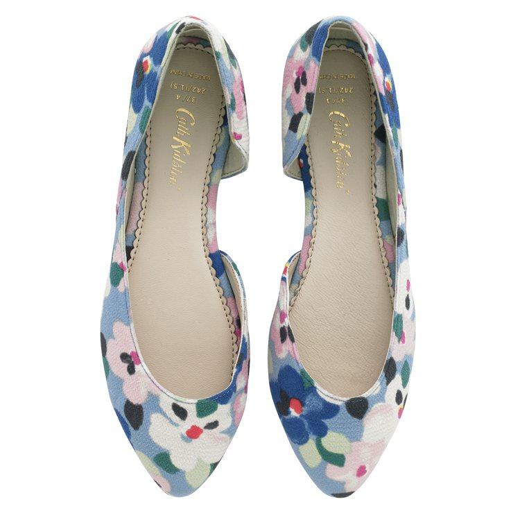 印花尖頭鞋,1,980元。圖/Cath Kidston提供