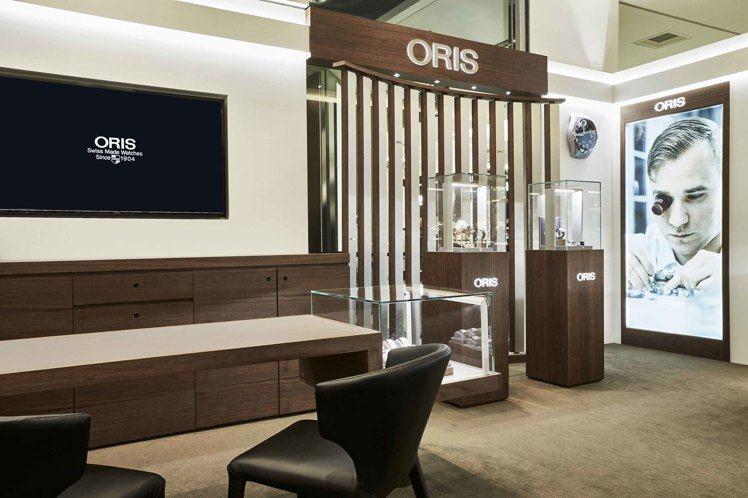 ORIS亞洲首家全新形象概念店,由瑞士原廠為台灣地區操刀監製打造嶄新空間。圖/O...