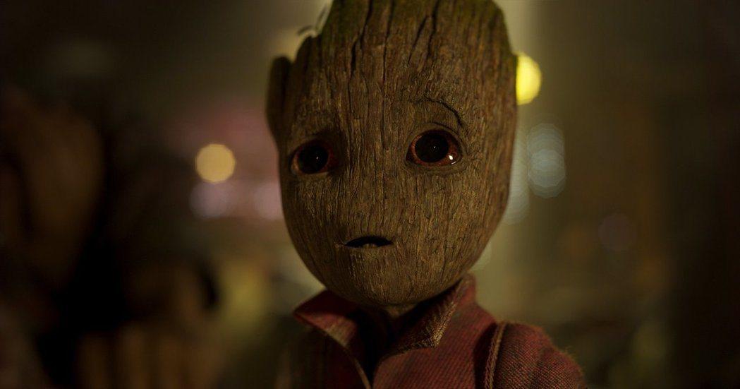 超萌的小格魯特是「星際異攻隊2」最搶眼的焦點。圖/摘自imdb