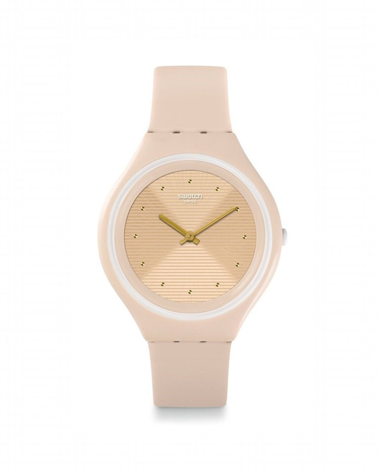 SKIN系列目前全球銷售冠軍的Skinskin腕表,3,800元。圖/SWATC...