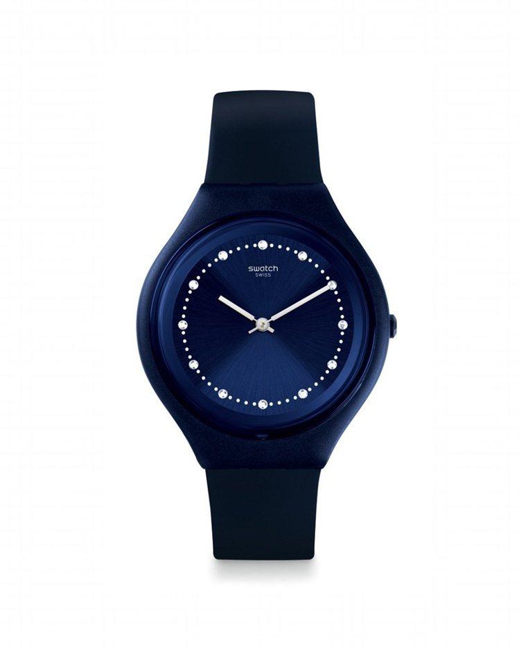 SKIN系列目前全台銷售最佳的Skinsparks腕表,3,950元。圖/SWA...
