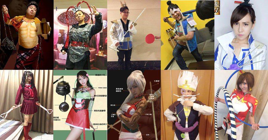 認出他們是哪些電玩實況主或cosplay名人了嗎?