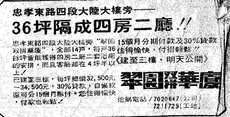網友貼出1997年的舊報紙,比較一下當時的房屋行情。 圖擷自PTT