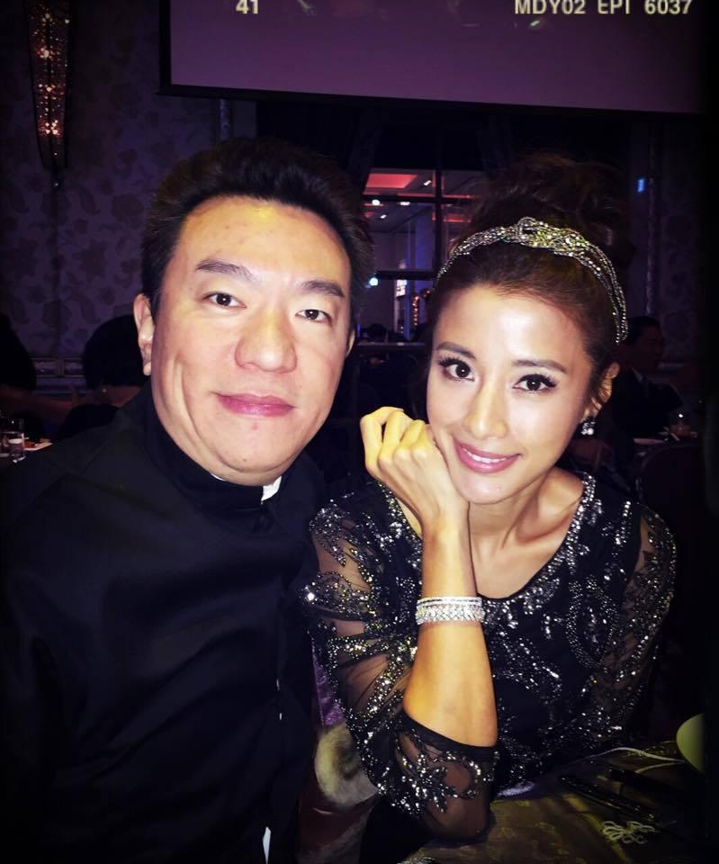 李蒨蓉(右)與老公李德立(左)。 圖/擷自李蒨蓉臉書