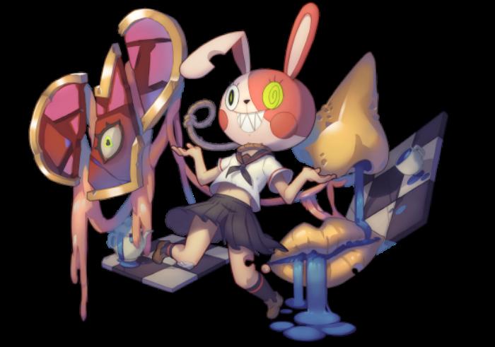 復活節限定英雄─5★火屬戰士「滿懷青春•有病兔兔」。