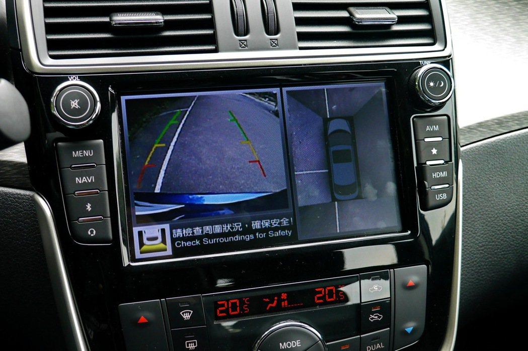 AVM 360度環境影像監控。 記者陳威任/攝影