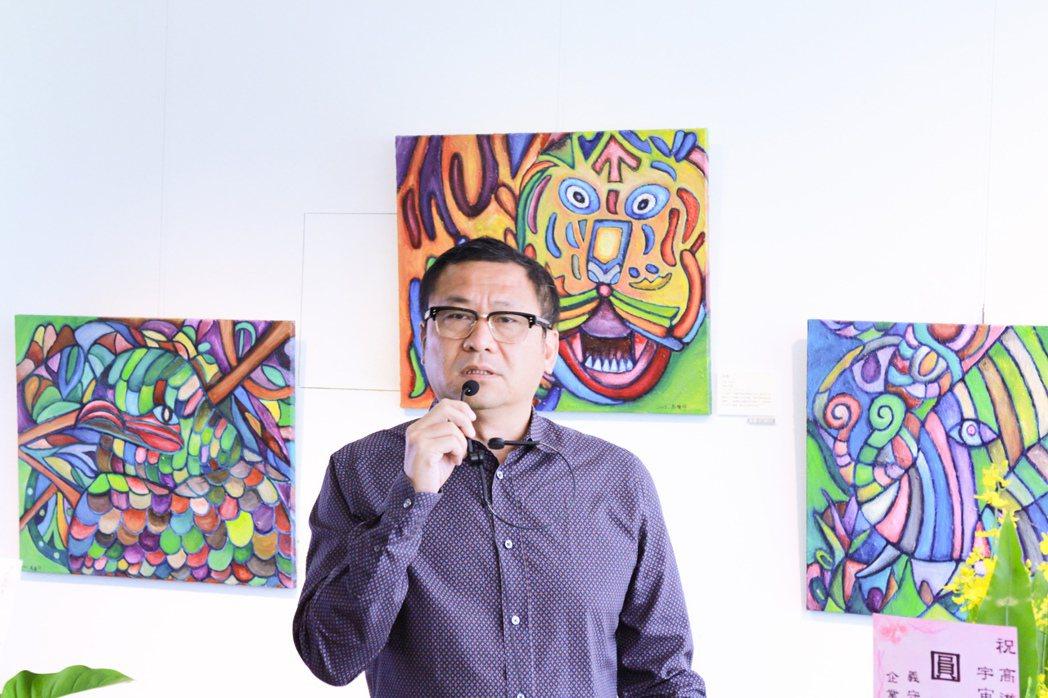 雄崗建設董事長林清吉擁有大量的藝術收藏。 攝影/張世雅