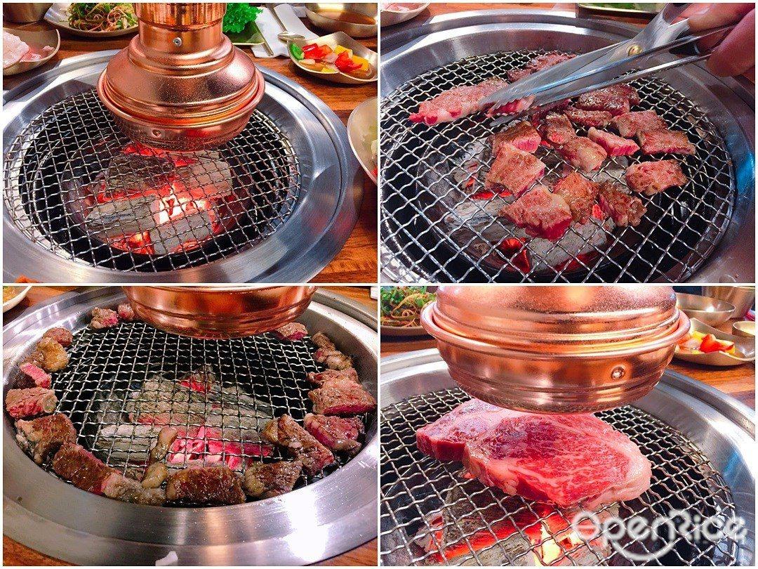 ▲Meat Love兩大特色是健康的橡木炭及黃金比例密度烤網,將鮮美的上等和牛沙...