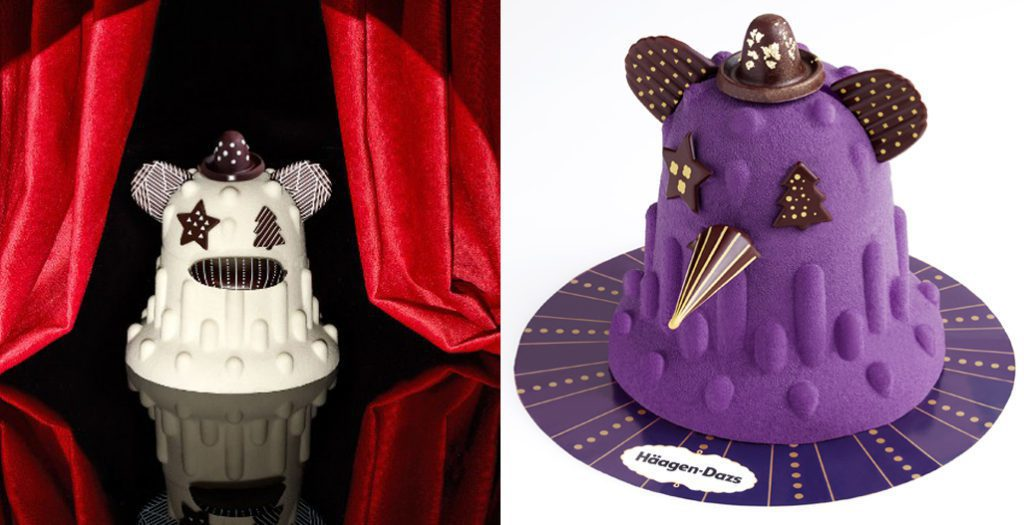 Designs cake creature for Häagen-Dazs。pi...
