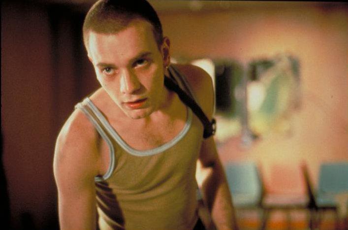 伊旺麥奎格在「猜火車」演活英國頹廢青年。圖/摘自imdb