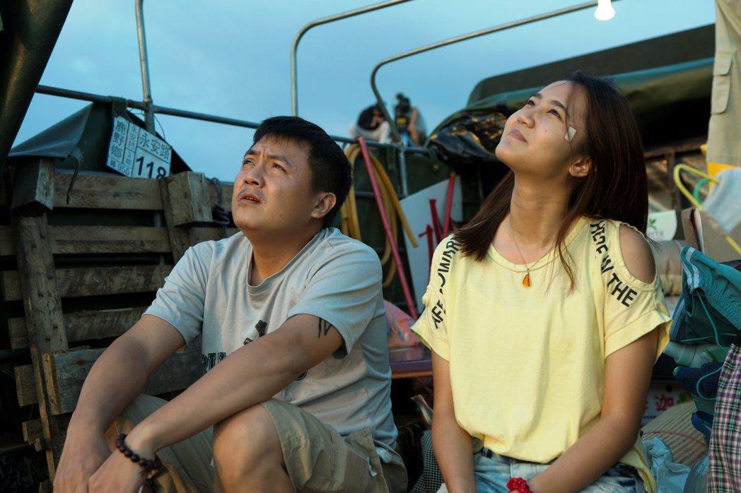 高盟傑(左)、林潘妮主演的公視學生劇展「迎向邊疆公路」入圍坎城影展正式競賽單元。