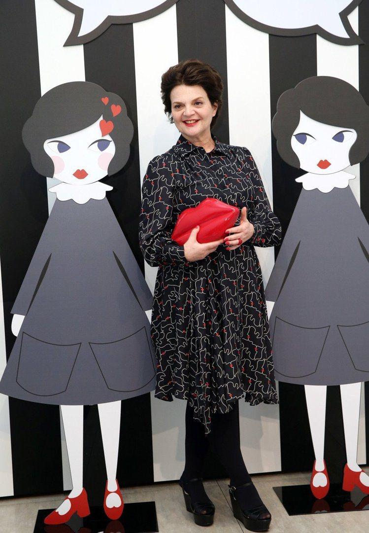 設計師Lulu Guinness特別來到台灣宣傳。圖/記者陳瑞源攝影