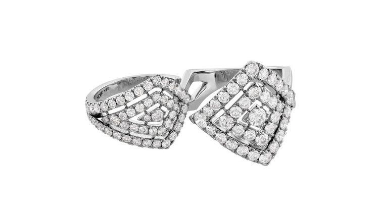TRIPLICITY系列赫斯特圖騰跨指鑽石戒指,鑲嵌共3.06克拉鑽石,51萬8...