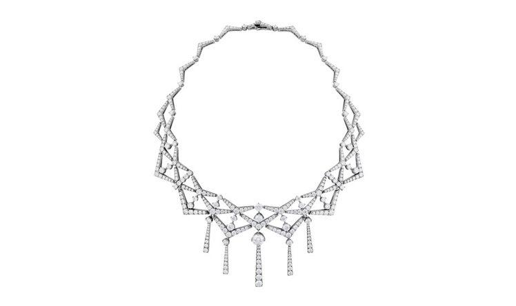 TRIPLICITY系列三角幾何鑽石項鍊,以赫斯特大廈為靈感,多層次關節設計,既...
