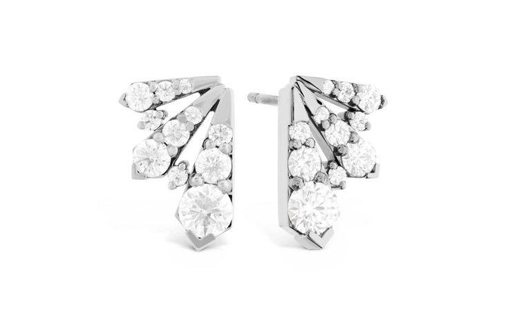 TRIPLICITY系列赫斯特圖騰菱形鑽石耳環,鑽石總重1.49克拉,35萬3,...