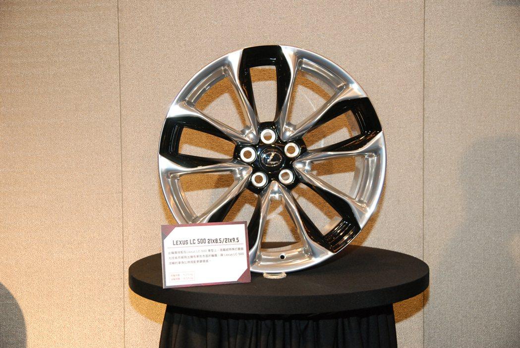 圖為 Lexus LC500 輪框[規格為前輪:21 x 8.5(淨重 15.0...