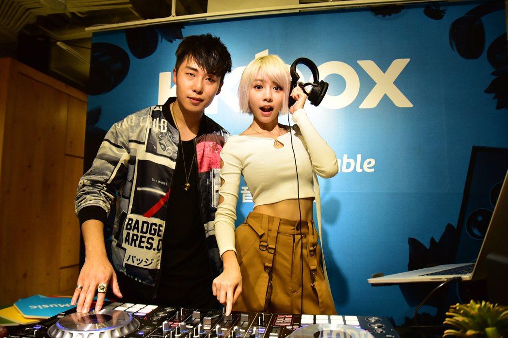 林明禎(右)與李建軒。圖/KKBOX提供