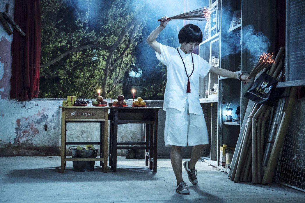 郭書瑤主演「通靈少女」,戲中學生靈媒身份曝光。圖/HBO Asia提供