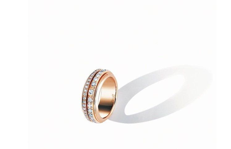 Possession18K 玫瑰金指環,鑲嵌74顆重1.3克拉圓形美鑽,約31萬...