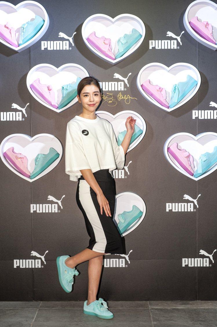 李毓芬以運動成為最完美女孩,受邀出席PUMA活動。圖/PUMA提供