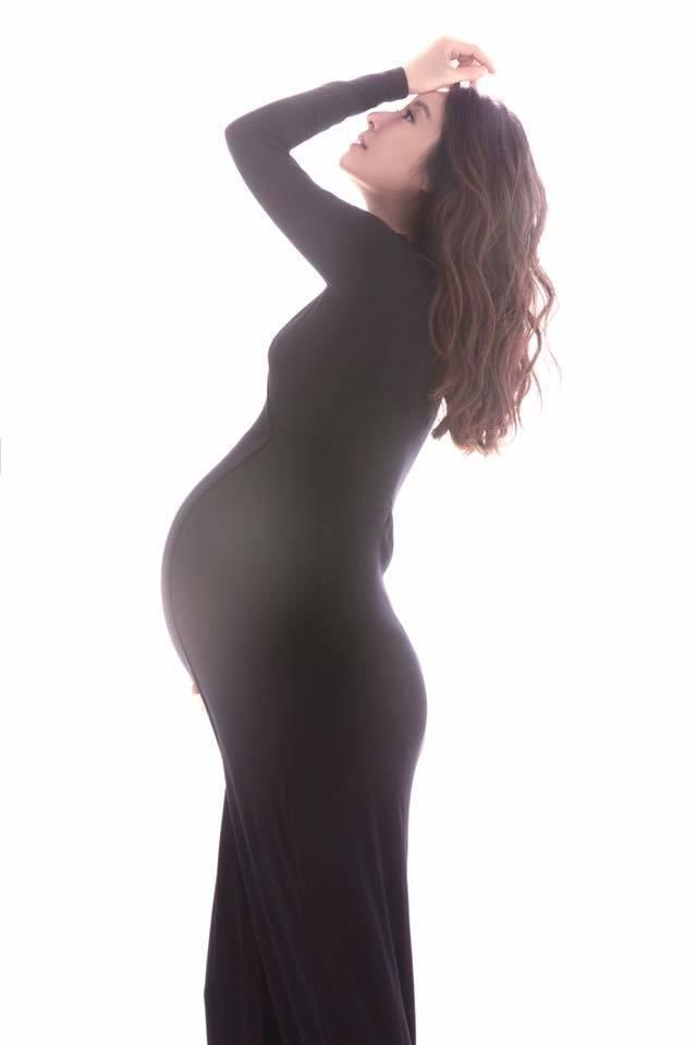 林心如首度公開懷孕照片。  圖/摘自臉書