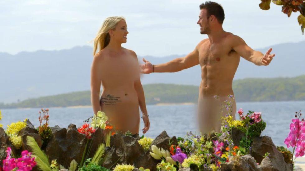「裸體約會」已經將「重點」都模糊處理,裸露程度遠不如歐洲版本。圖/摘自VH1