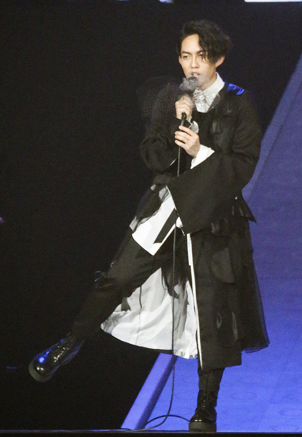 林宥嘉今晚在小巨蛋開唱。記者黃威彬/攝影