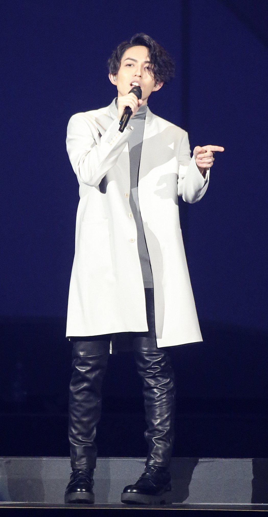 林宥嘉昨天在台北小巨蛋舉辦演唱會。記者黃威彬/攝影