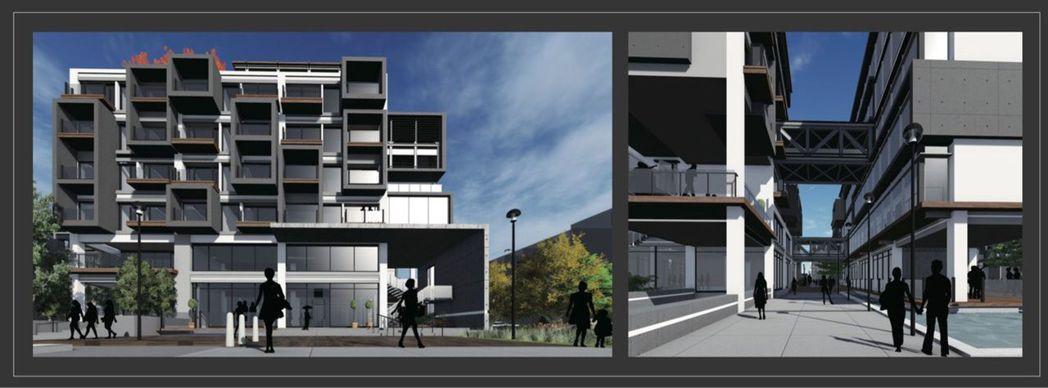 邱紹軒設計的銅獎作品「Vertical Port」以青年短暫居住為主題。圖/邱紹...