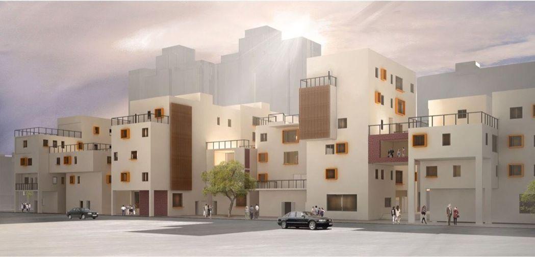 賈昌建設計的銀獎作品「共築村落」,以大陸土樓為發想設計。圖/賈昌建提供