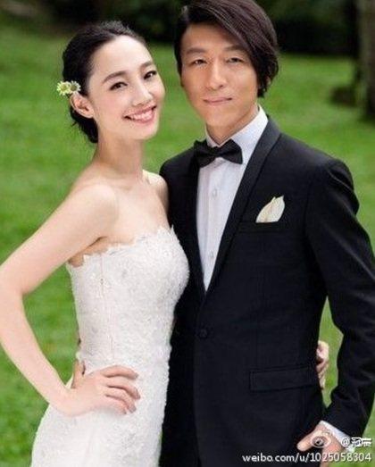 陳羽凡(右)與白百何宣告早在2年前離婚。圖/摘自微博