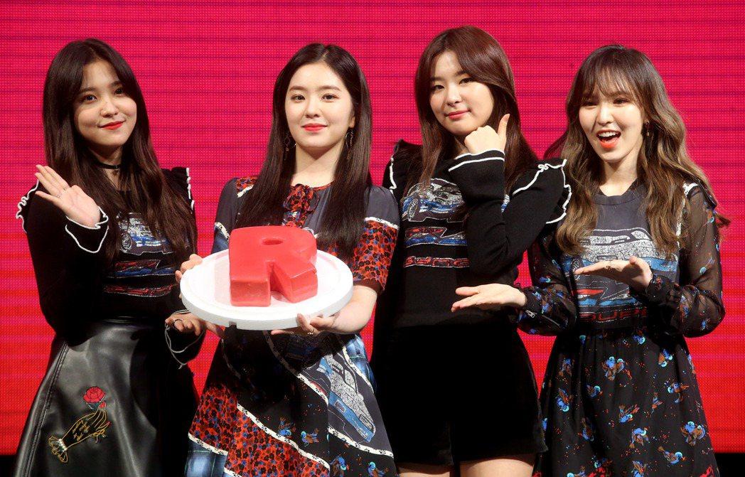 韓國大勢女團Red Velvet來台辦粉絲見面會。記者屠惠剛/攝影