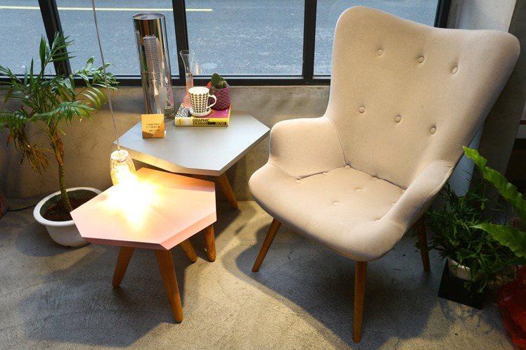 RK design設計家具生活感十足,令人有家的感覺。圖/記者曾學仁攝影