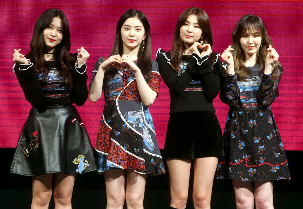 南韓女團Red Velvet。 聯合報系資料照片  記者屠惠剛/攝影