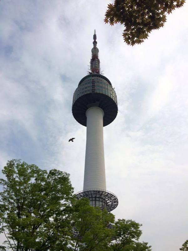 首爾的地標「首爾塔」(又稱南山塔)。 記者陳心瑜╱攝影