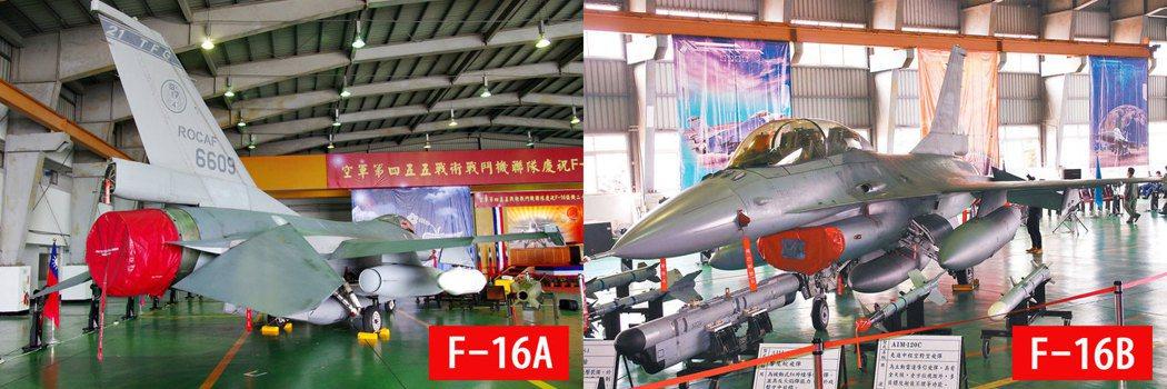 F-16A(單座)與F-16B(雙座) 攝影/記者 程嘉文