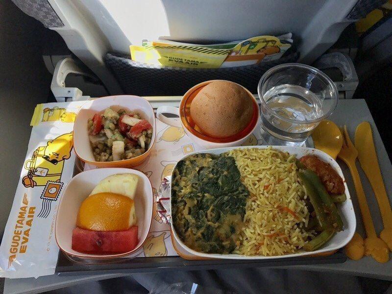 印度素食餐。圖/Dcard網友提供