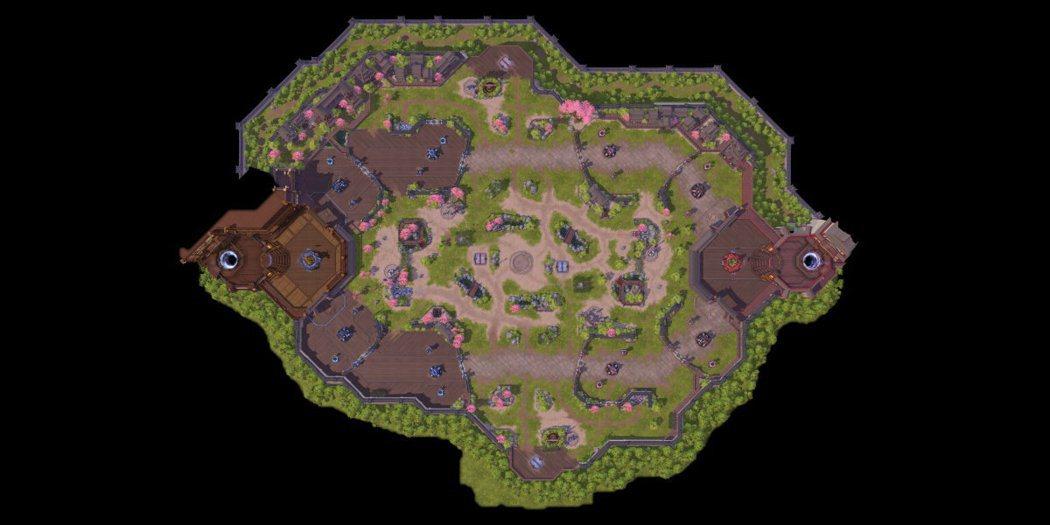 新戰場「花村」俯瞰圖。 圖/暴雪提供