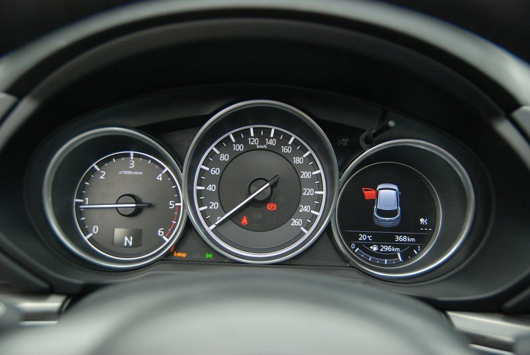 儀表板採用三圓型立體設計,並於右下方設有 MID 多功顯示螢幕。 記者林鼎智/攝...