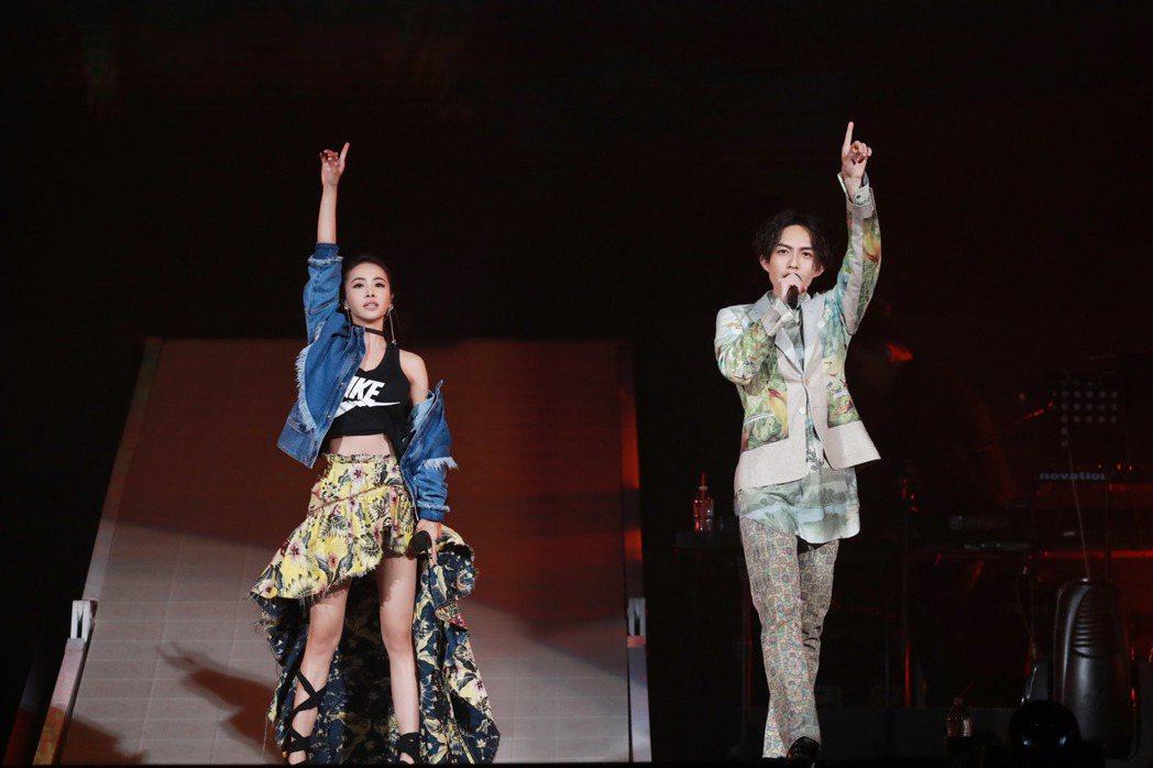 蔡依林受邀擔任林宥嘉演唱會嘉賓。圖/華研提供